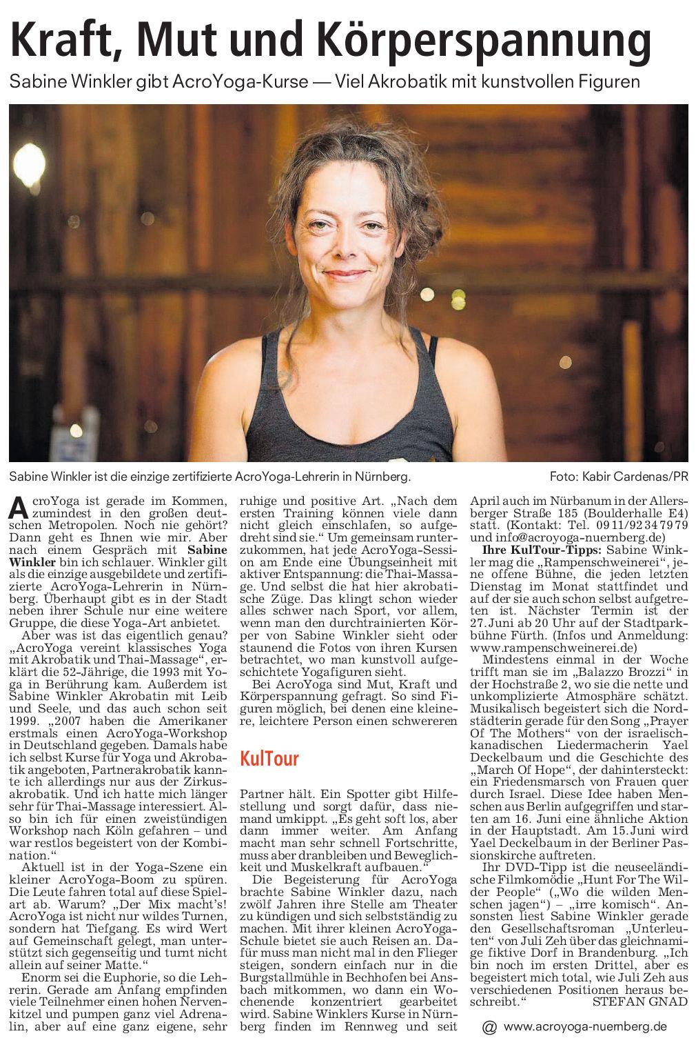 Nürnberger Nachrichten, Stadtanzeiger, 31.05.2017